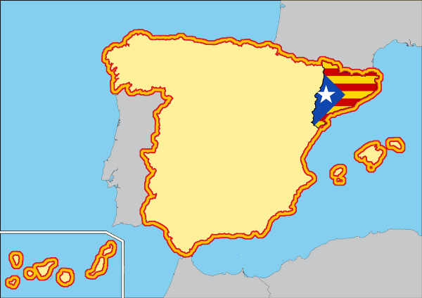 Map Of Spain And Catalonia.Should Catalonia Be Allowed To Secede Students For Liberty