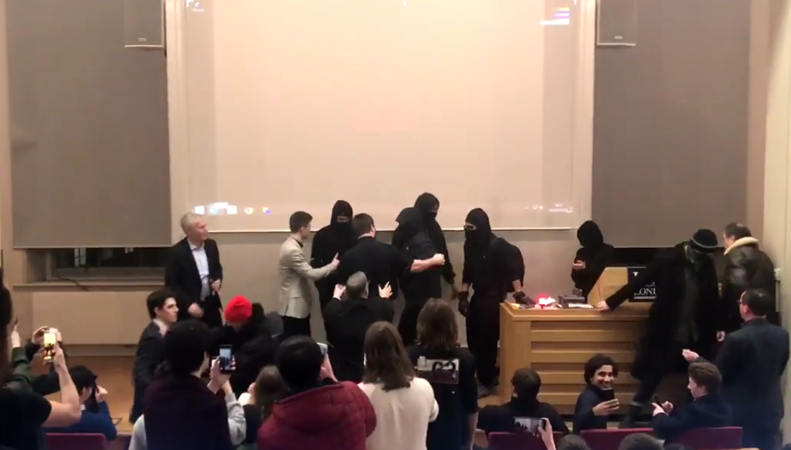 Antifa Storms Event at KCL