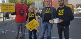 Students For Liberty protest unveiling of Marx statue in Germany